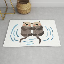 Relax Sea Otters Love Rug