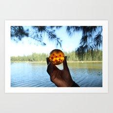 seven star at lake. Art Print