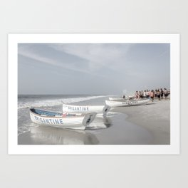 Beach Patrol Brigantine Art Print