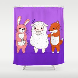 Lambie's Body Suit Problem Shower Curtain