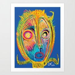 The  Scream Munch Graffiti Outsider Art Version by Emmanuel Signorino Art Print
