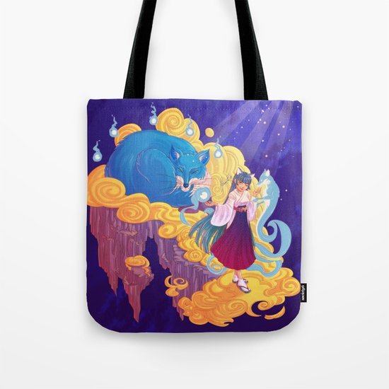 The Fox Family in the Spirit World Tote Bag