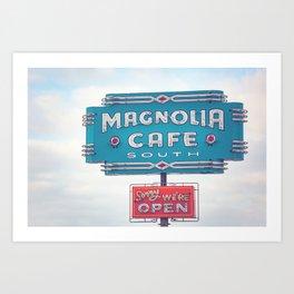 Magnolia Cafe Austin Texas Art Print