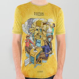 The Fantastic Craft Coffee Contraption Suite - The Fantastic Craft Coffee Contraption All Over Graphic Tee