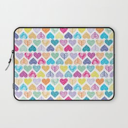 Rainbow Wild Hearts Laptop Sleeve