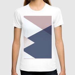 Geometrics - blush indigo rose gold T-shirt