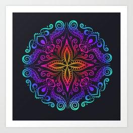Mandala colorful Art Print