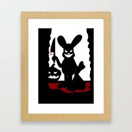 Bloody Rabbit Halloween version Framed Art Print