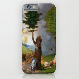Lorenzo Lotto - Allegory of Virtue and Vice iPhone Case