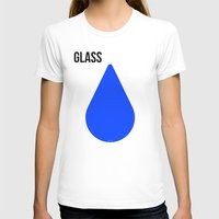 glass T-shirts featuring GLASS by try2benice