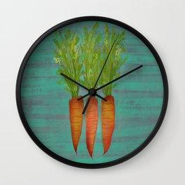 Carrots Upright Wall Clock