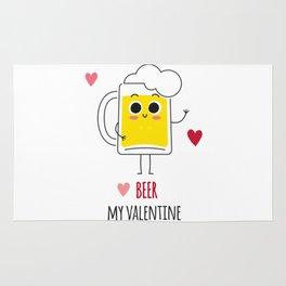 Beer is my valentine new 2018 love cute fun Rug