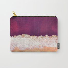 Maroon Ocean Carry-All Pouch