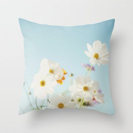 Garden of flowers. Throw Pillow