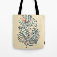 leaf Tote Bags featuring Turning Over A New Leaf by Monica Gifford