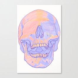 Blind Skull White Canvas Print