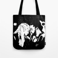 daenerys Tote Bags featuring My Sun and Stars by InariRaith