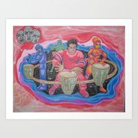 drums Art Prints featuring Drums by Jason Cooper