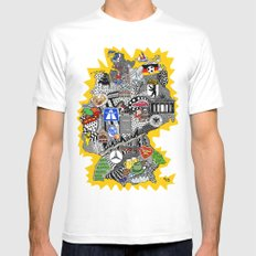 Germany Doodle LARGE White Mens Fitted Tee