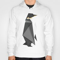 fractal Hoodies featuring Fractal geometric emperor penguin by Picomodi
