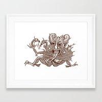 satan Framed Art Prints featuring SaTaN by Kurz Daniel