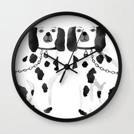 Staffordshire Dogs (Black) Wall Clock