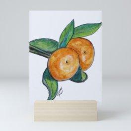 Two Oranges Mini Art Print