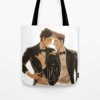 snk Tote Bags featuring sugar by JohannaTheMad