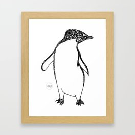 Inspired Penguin Framed Art Print