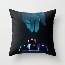RGB WASD Throw Pillow