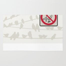 Birds Sign - NO droppings 3 Rug