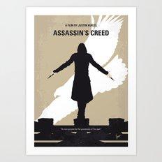 No798 My Assassins Creed minimal movie poster Art Print