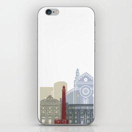 Bari skyline poster iPhone Skin