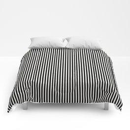 Simple Black & White Licorice Cabana Stripe Comforters