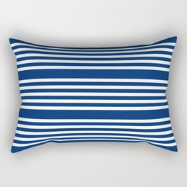 White Stripes Rectangular Pillow