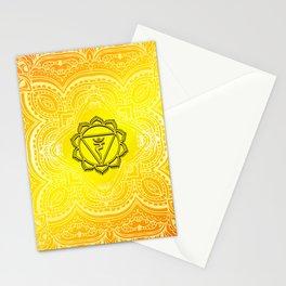 Solar Plexus Chakra Mandala Stationery Cards