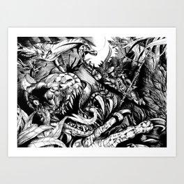 Pretorian Strike Art Print