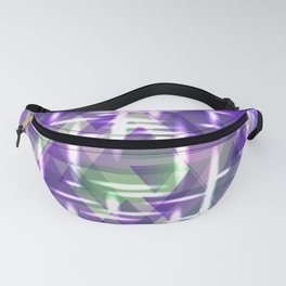 Spring pastel purple shiny triangles. Fanny Pack