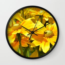 Yellow flowers 042 Wall Clock