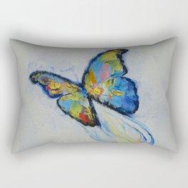 Opal Butterfly Rectangular Pillow