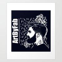 Lotus Beard Art Print