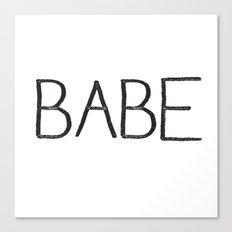 BABE Canvas Print