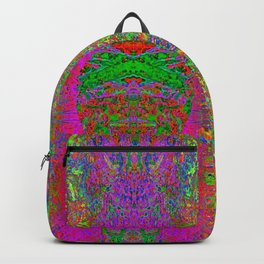 Radiation Smile Totem (abstract, psychedelic, totem) Backpack