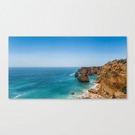 Beach at Lagoa, Algarve, Portugal Canvas Print