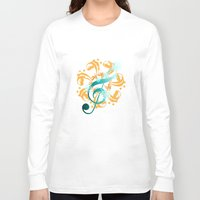 music notes Long Sleeve T-shirts featuring Music Notes  by HK Chik