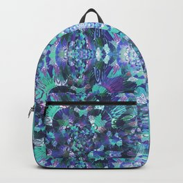 Abstract Floral Burst Backpack