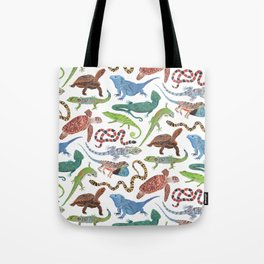 Endangered Reptiles Around the World Tote Bag