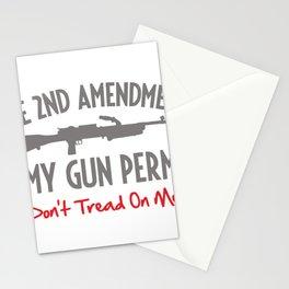 GUN PERMIT Stationery Cards