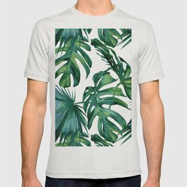 Classic Palm Leaves Tropical Jungle Green T-shirt