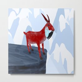 Mountain Goat Design Metal Print